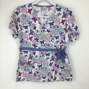 Dickies XS or S Butterfly Wrap Style Scrub Top